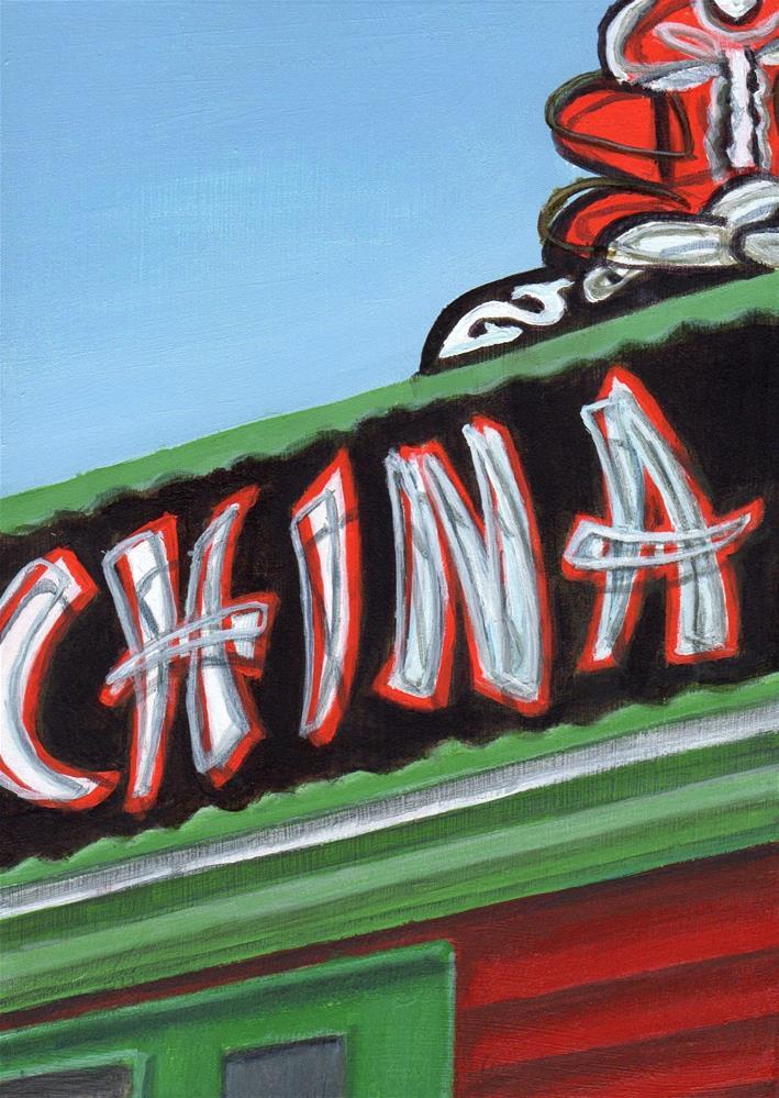 """China Jade"" original fine art by Debbie Shirley"