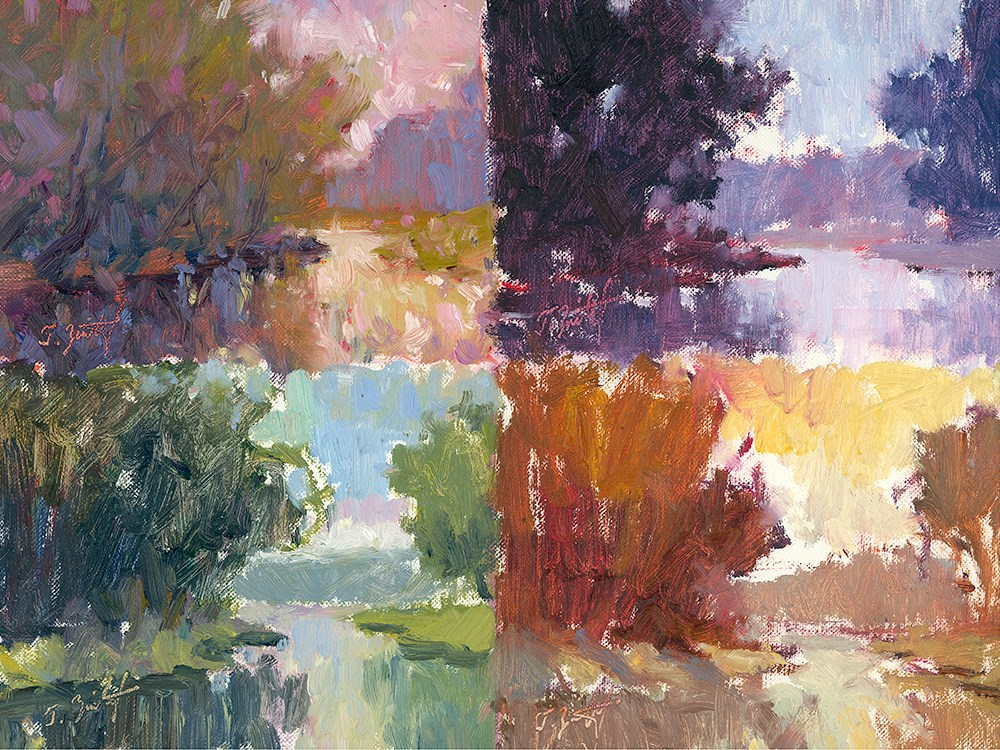 """Four Impression Studies"" original fine art by Todd Zuithof"