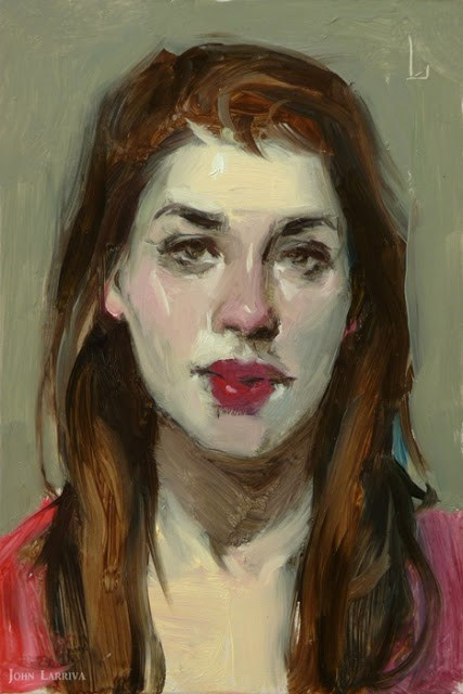 """Cherry Mouth"" original fine art by John Larriva"
