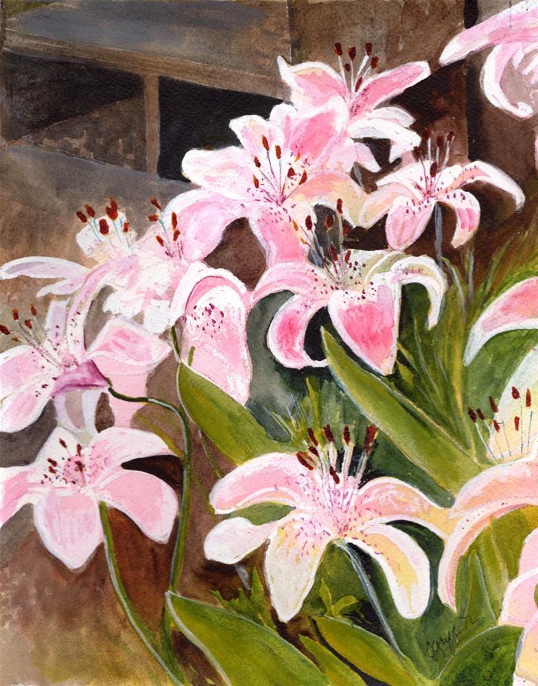 """Tiger Lilies"" original fine art by Bunny Griffeth"