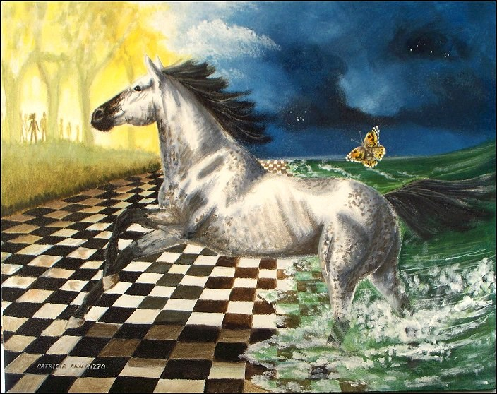 """""""Toward the Light"""" original fine art by Patricia Ann Rizzo"""