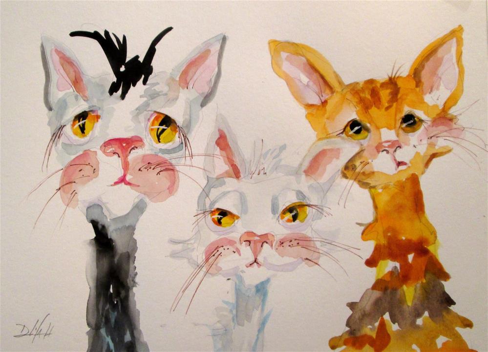 """Tres  Amigos"" original fine art by Delilah Smith"