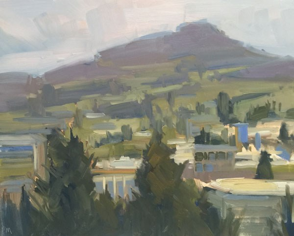"""""""View of Spencer's from Skinner's Butte"""" original fine art by Patti McNutt"""