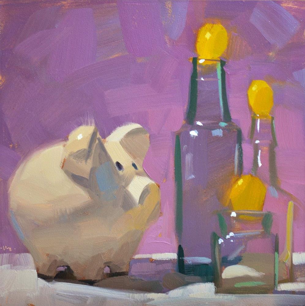"""Gimmee Grapes"" original fine art by Carol Marine"