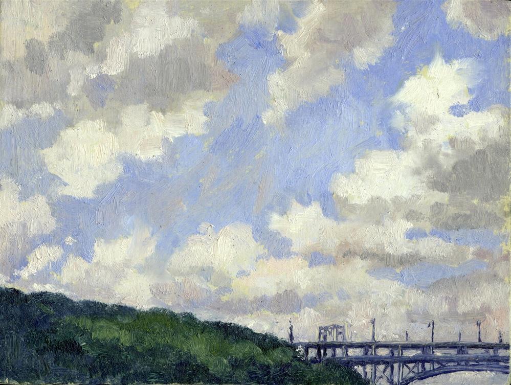 """Summer Clouds, Inwood, New York City"" original fine art by Thor Wickstrom"
