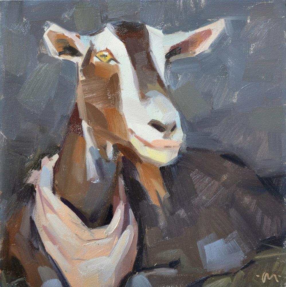 """Billy Goat"" original fine art by Carol Marine"
