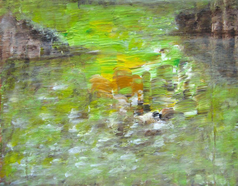 """Petal River"" original fine art by Alina Frent"