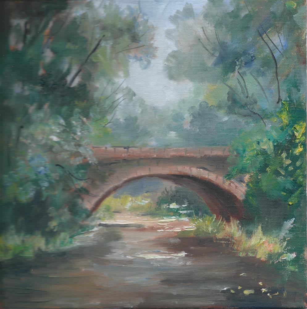 """""""Gavan Garden Bridge """" original fine art by R. S. Perry"""
