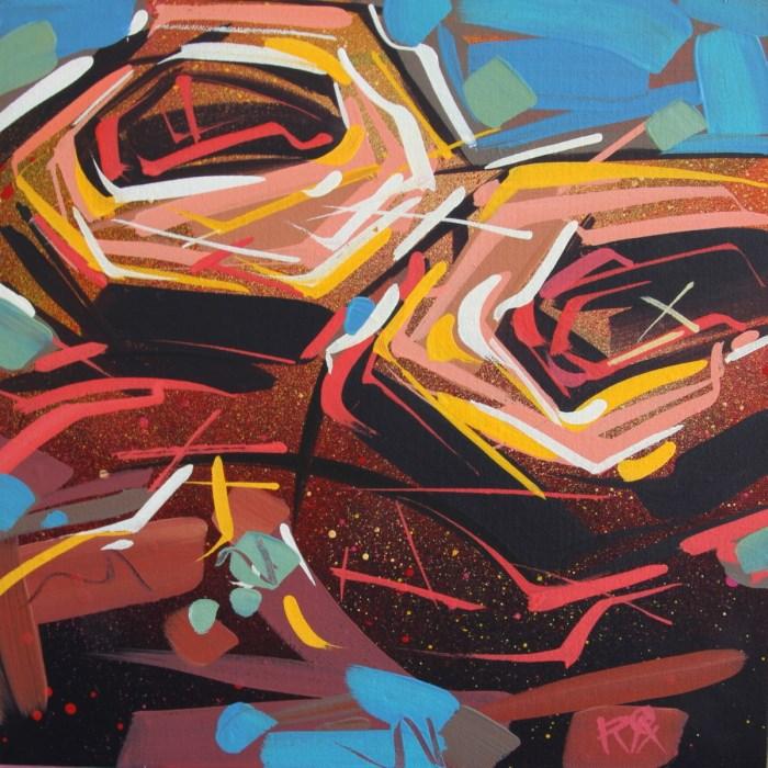 """Bird's Nest Abstraction 47"" original fine art by Roger Akesson"