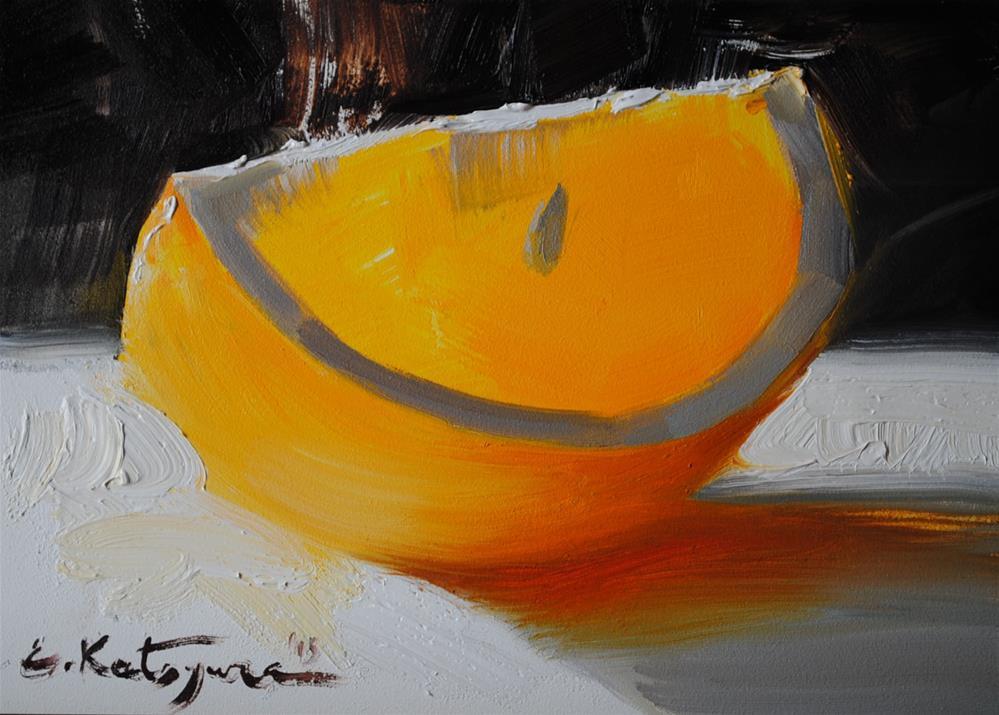 """Shining Orange"" original fine art by Elena Katsyura"