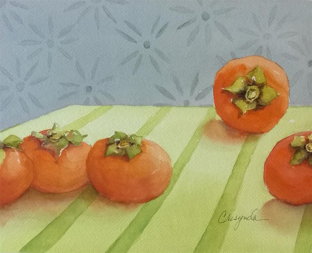 """Fall Persimmons"" original fine art by Crisynda Buss"