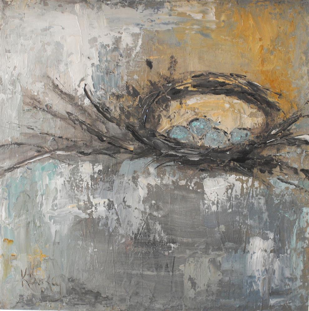 """Our Nest"" original fine art by Kelly Berkey"