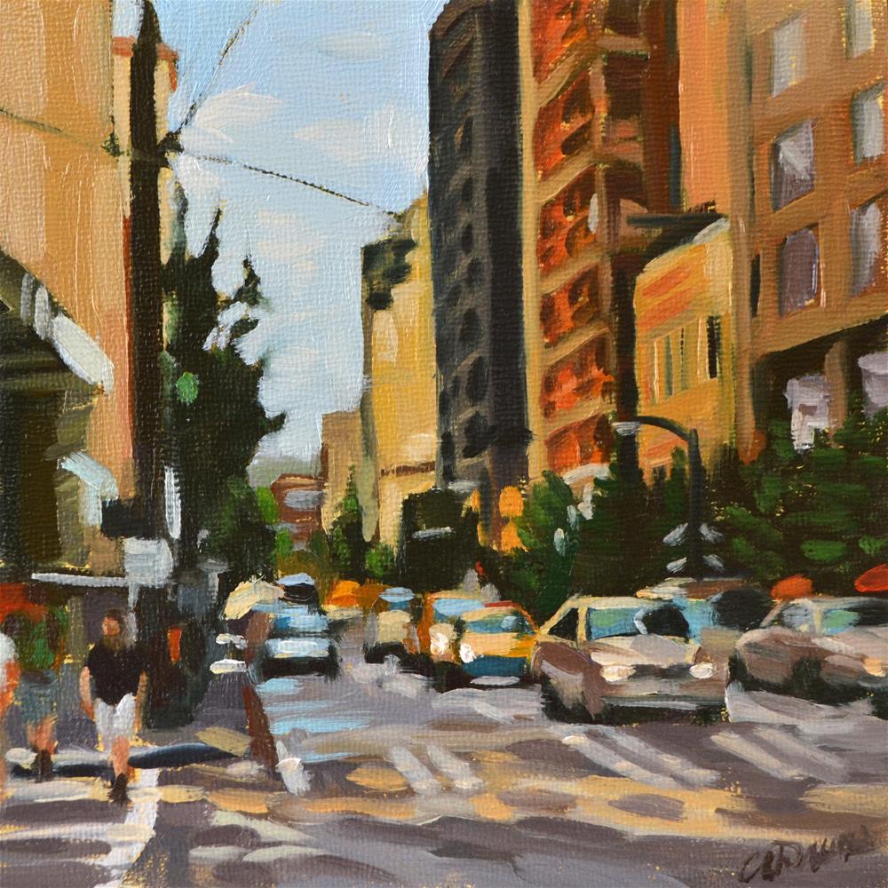 """Gritty City"" original fine art by April Dawes"