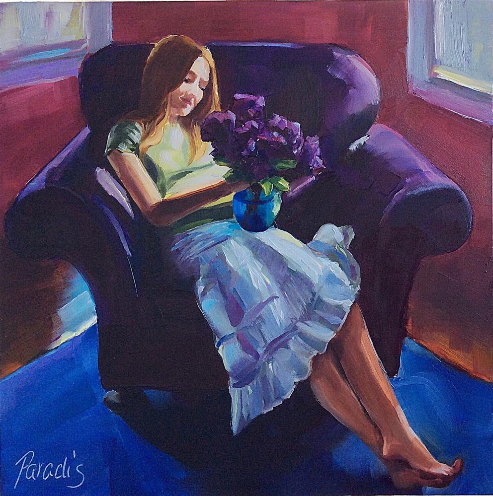 """When Young Girls Dream"" original fine art by Rita Paradis"