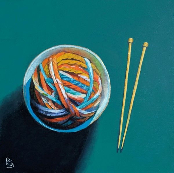 """Ramen Yarn"" original fine art by Ria Hills"