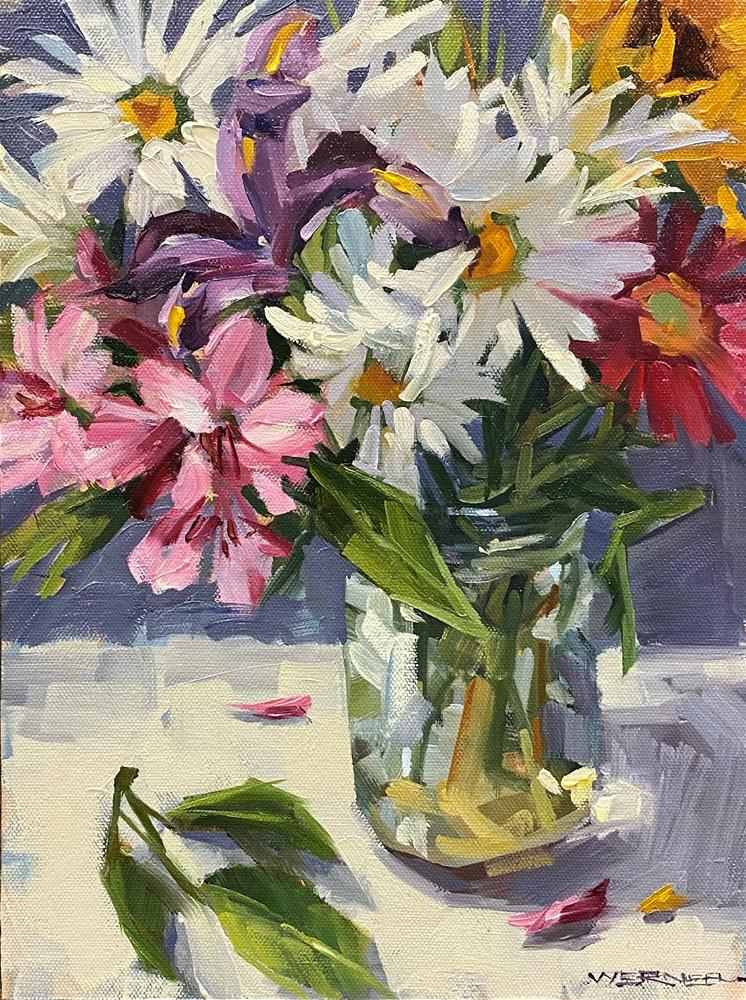 """Petals-a-Plenty"" original fine art by Karen Werner"