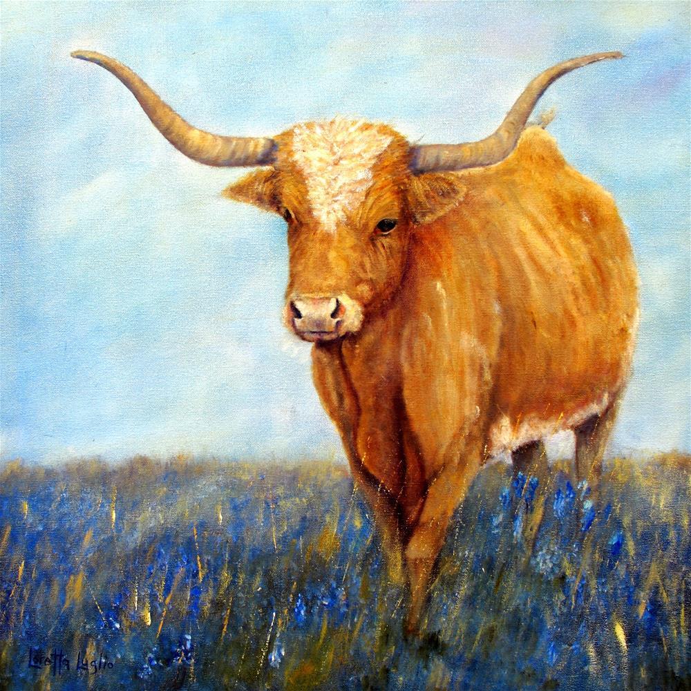 """Longhorn"" original fine art by Loretta Luglio"