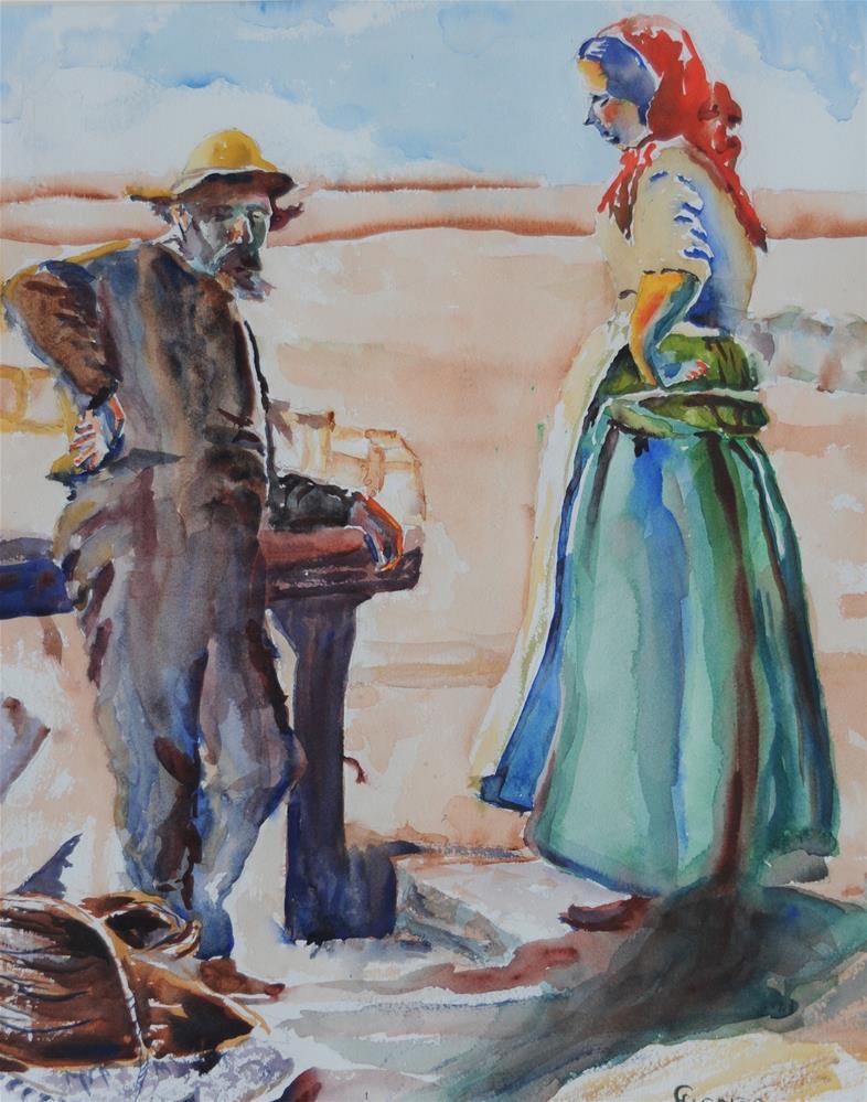 """I Hear Ya"" original fine art by Fred Jones"