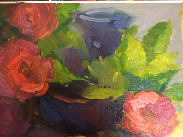 """""""Bright Flowers and Vases"""" original fine art by Naomi Bautista"""