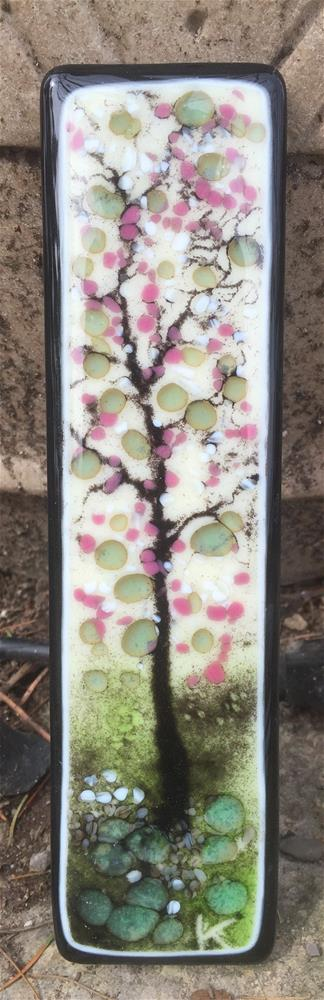 """Sgraffito Glass Tree"" original fine art by Kelly Alge"