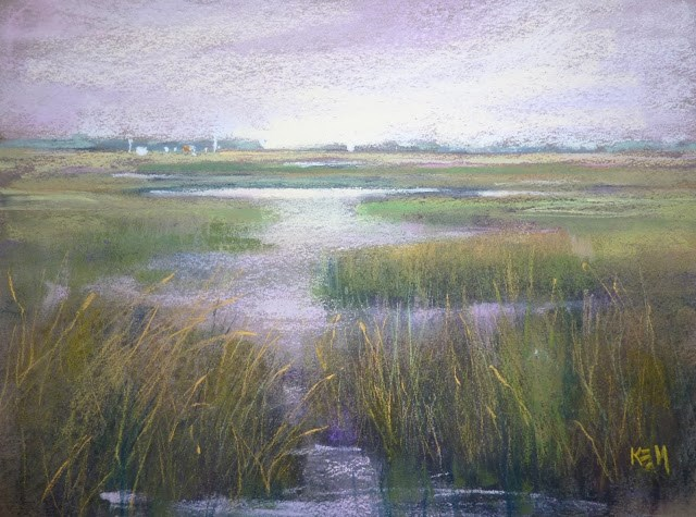 """Painting Lessons from a Marsh"" original fine art by Karen Margulis"