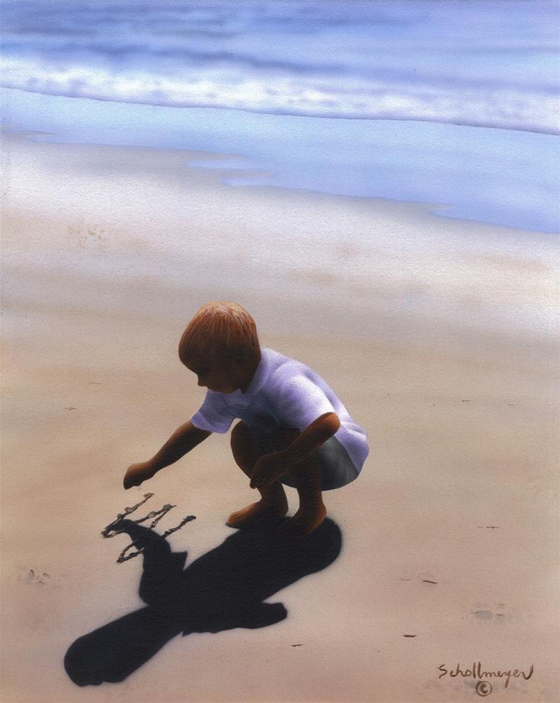 """The Sand Writer"" original fine art by Fred Schollmeyer"