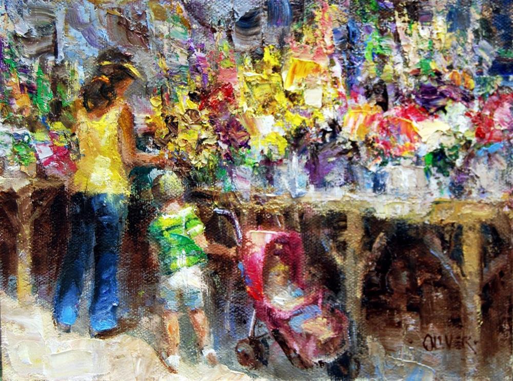 """""""Farmers Market #17"""" original fine art by Julie Ford Oliver"""