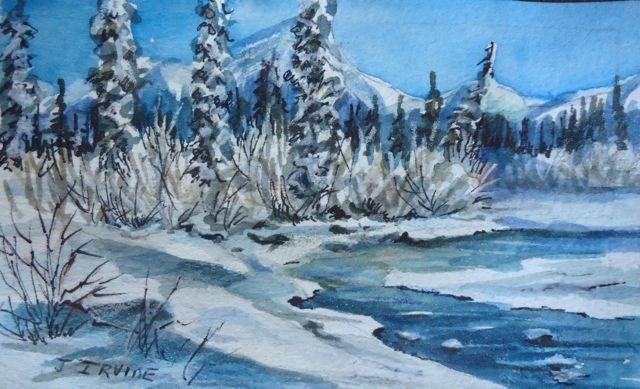 """Winter Blues"" original fine art by Jackie Irvine"