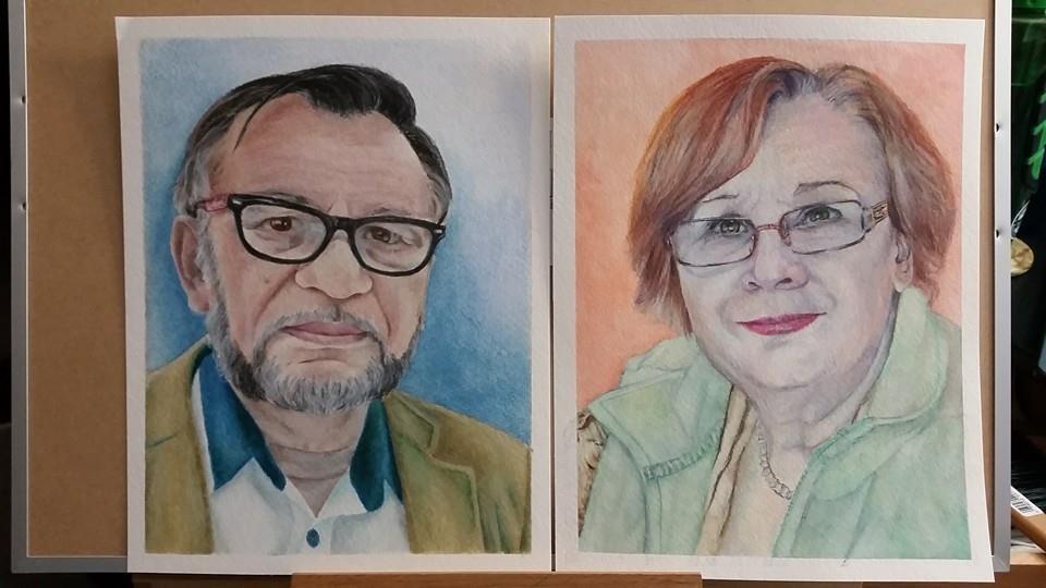 """My Parents"" original fine art by Gabriella DeLamater"