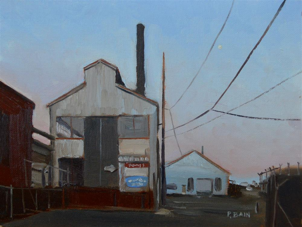 """Gloomy Wharf"" original fine art by Peter Bain"