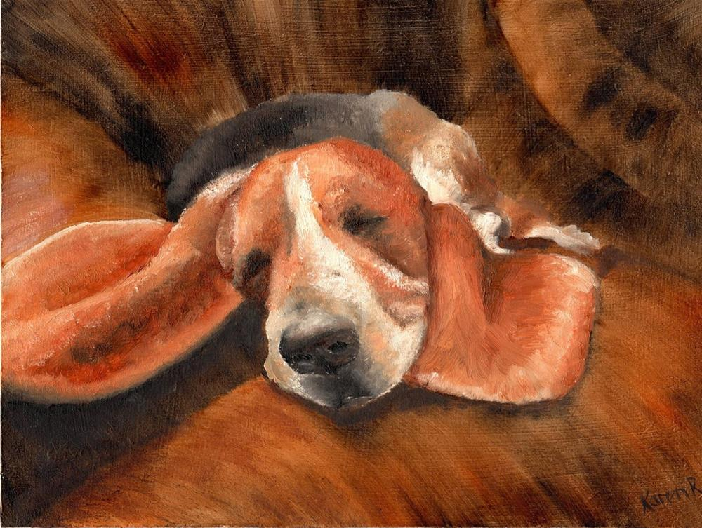 """Resting my ears"" original fine art by Karen Robinson"