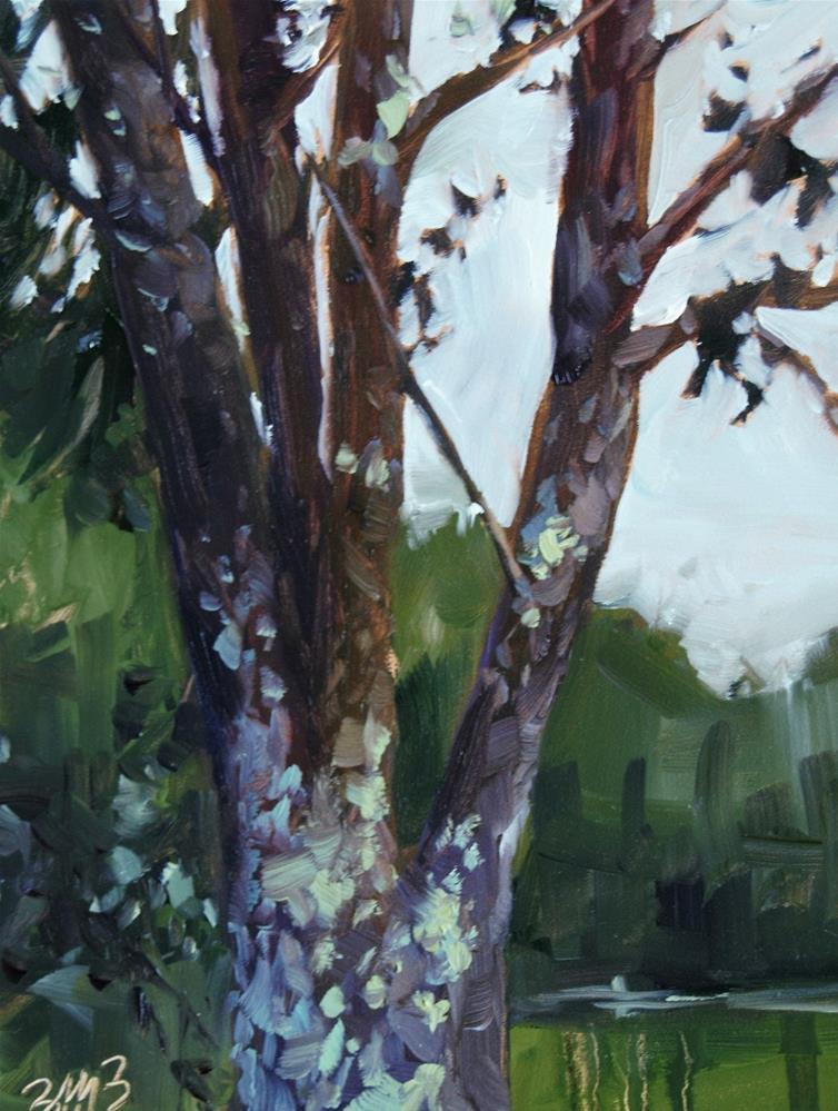 """""""Old Cherry"""" original fine art by Brienne M Brown"""