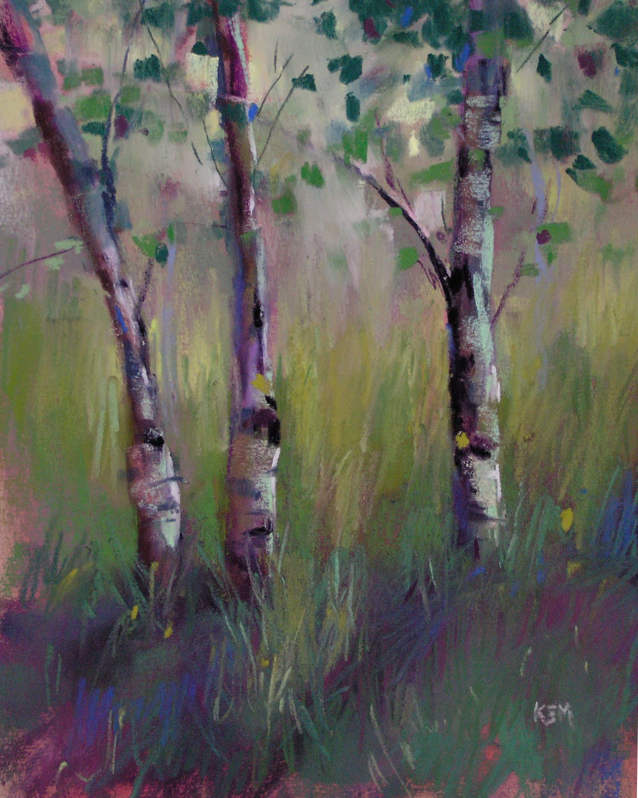 """Colorado Meadow"" original fine art by Karen Margulis"
