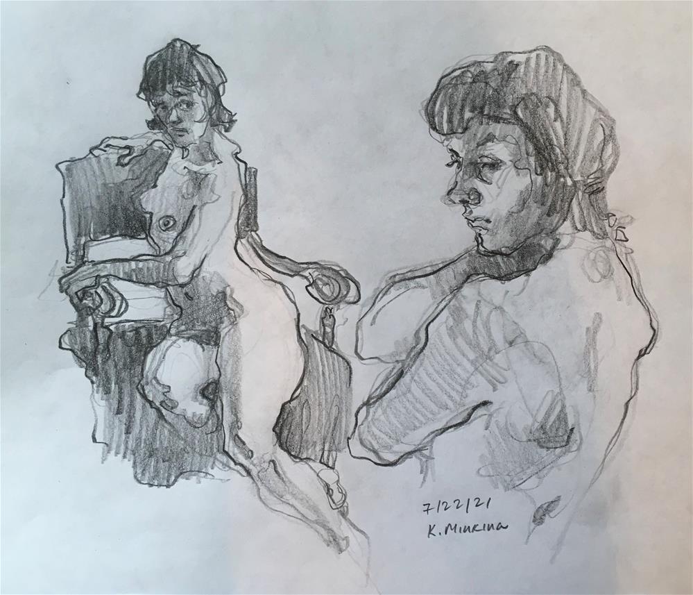 """Figure70"" original fine art by Katya Minkina"