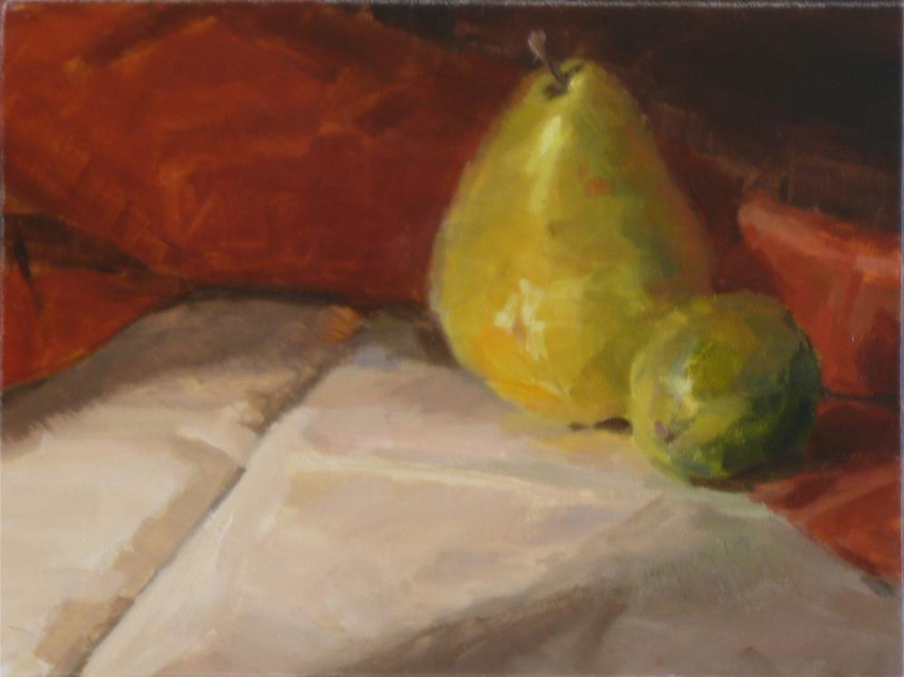 """""""Pear & Lime"""" original fine art by Ron Ferkol"""