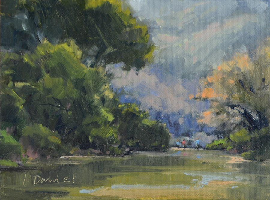 """Creek Walking"" original fine art by Laurel Daniel"