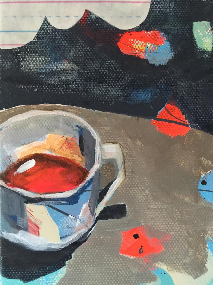 """""""205 First Cup"""" original fine art by Jenny Doh"""