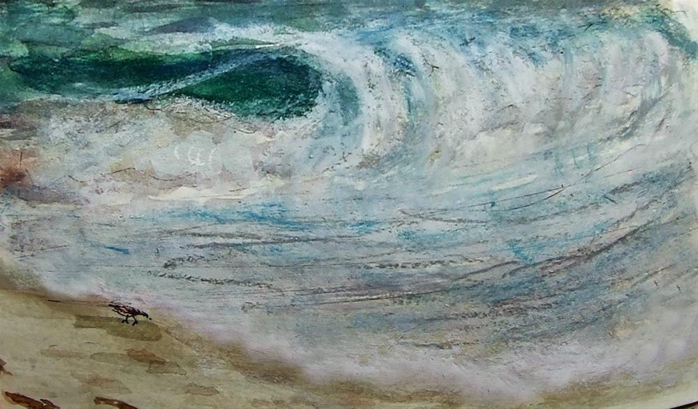 """""""Sugar beach"""" original fine art by Mitsuru Cope"""