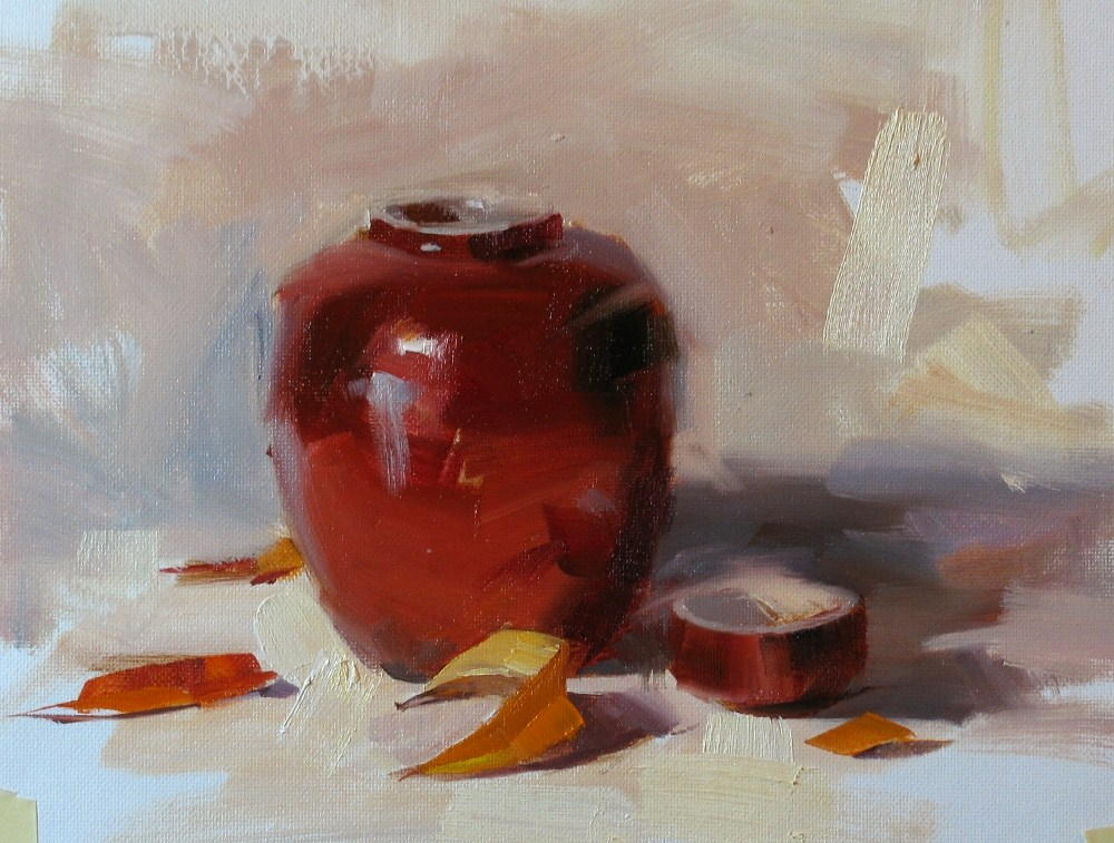 """Demo to My Tuesday Class"" original fine art by Qiang Huang"