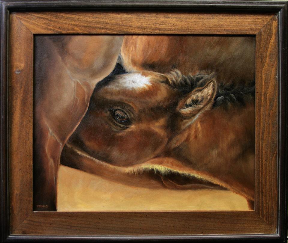 """Comfort Food"" original fine art by Veronica Brown"