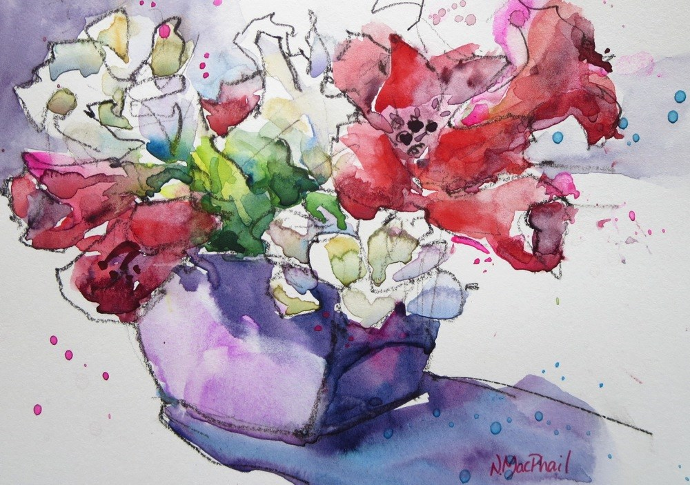 """it's what matters"" original fine art by Nora MacPhail"