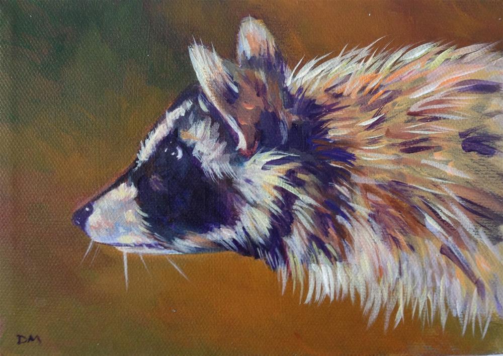 """Raccoon"" original fine art by Dawn Melka"
