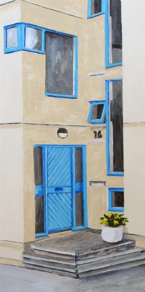 """Trimmed in Blue"" original fine art by Nan Johnson"