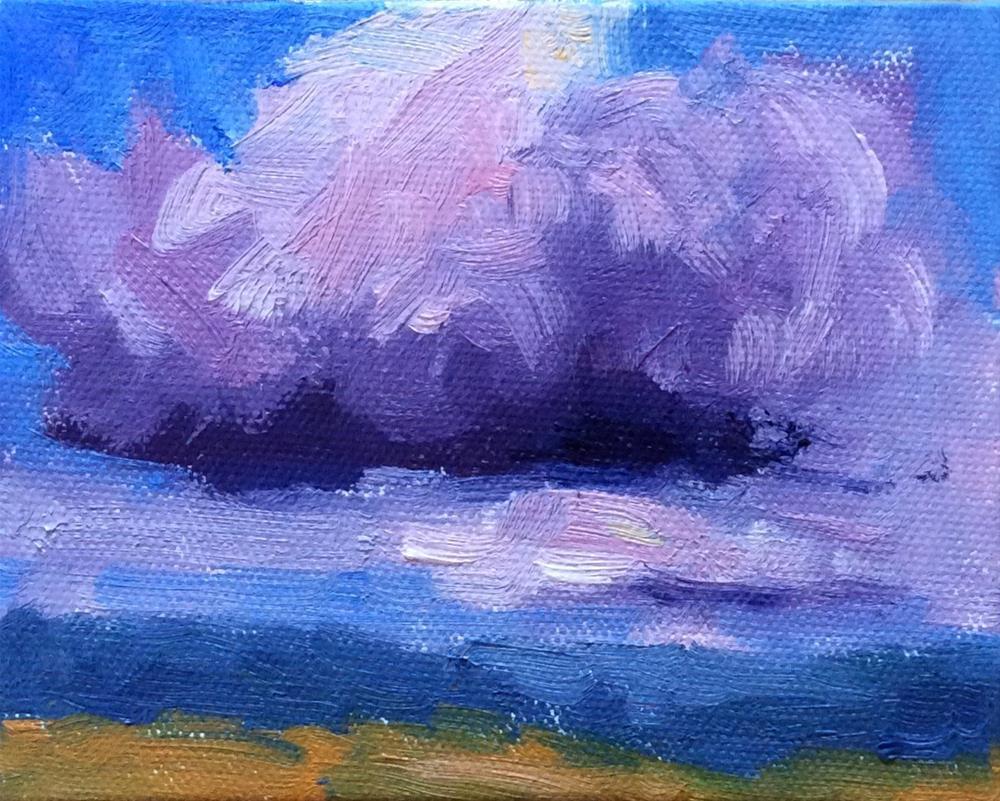 """#8 Tiny Cloudscapes"" original fine art by Victoria  Biedron"