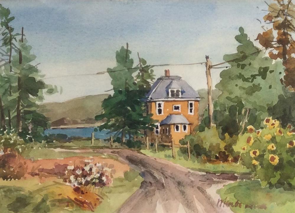 """Unpaved View"" original fine art by Marita Hines"