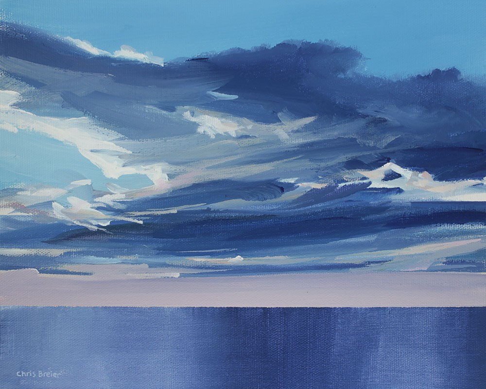 """Clouds Over Lake Ontario"" original fine art by Chris Breier"