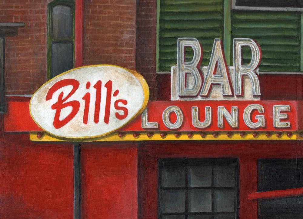 """Bill's Bar"" original fine art by Debbie Shirley"