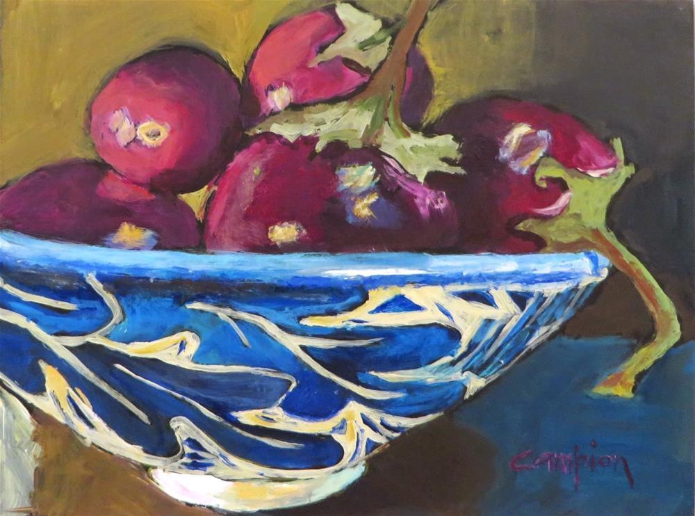 """612 Aubergine"" original fine art by Diane Campion"