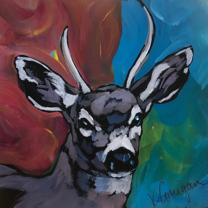 """Buck It"" original fine art by Kat Corrigan"