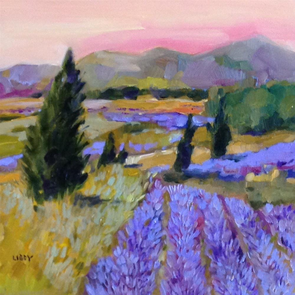 """Lavender Vista"" original fine art by Libby Anderson"